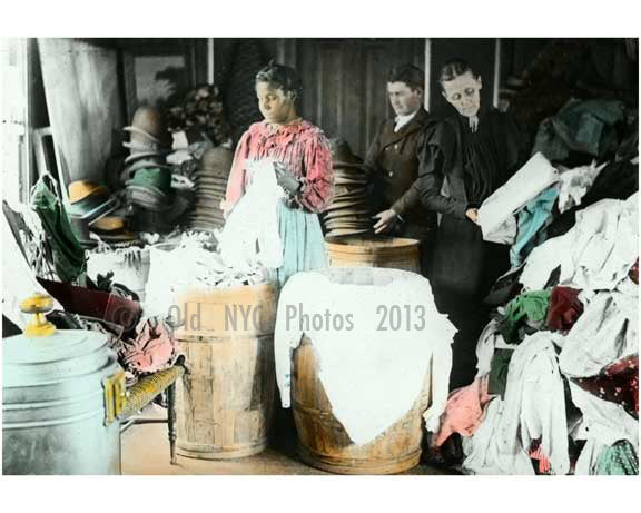 A worker sorting rags 1910 Old Vintage Photos and Images
