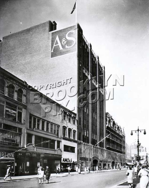 Abraham & Straus on Fulton Street, c.1950 Old Vintage Photos and Images