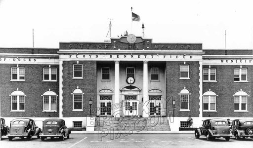 Admin Building, Floyd Bennett Field, NYC's first municipal airport, 1938 (We have more FBF pix) Old Vintage Photos and Images