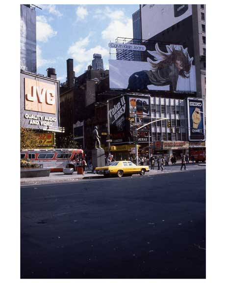 Ads in 1970s Times Square Old Vintage Photos and Images