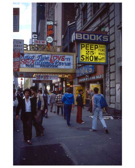 Adult movies in Times Square 1970s Manhattan V Old Vintage Photos and Images