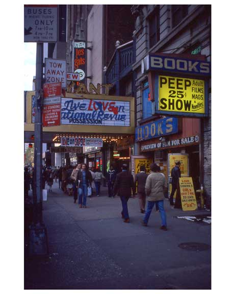 Adult movies in Times Square 1970s Manhattan VI Old Vintage Photos and Images