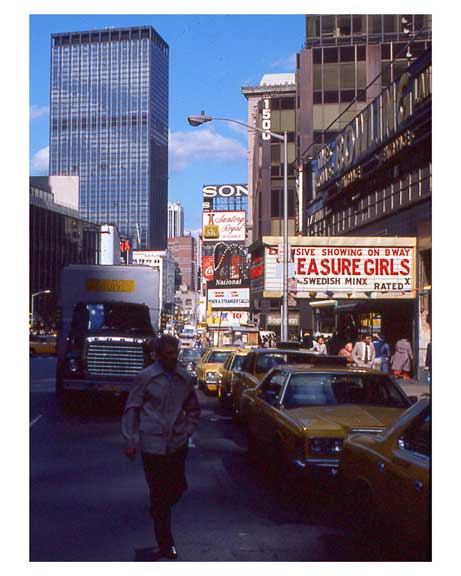 Adult Theater Billboards in 1970s Times Square Old Vintage Photos and Images