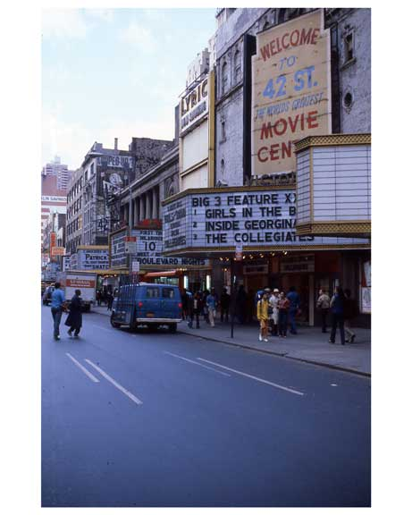 Adult Theaters  1970s Times Square Old Vintage Photos and Images
