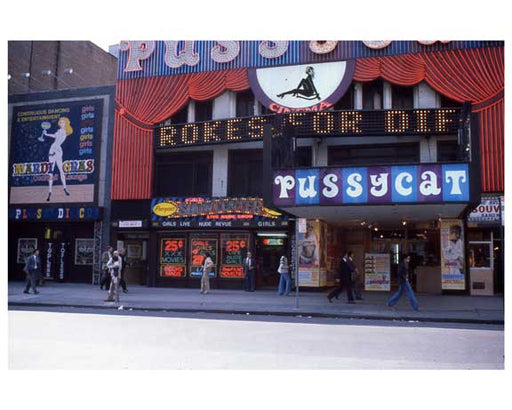 Adult theaters near 1970s Times Square A Old Vintage Photos and Images