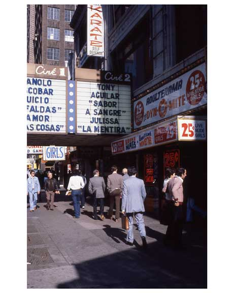 Adult theaters near 1970s Times Square X6 Old Vintage Photos and Images