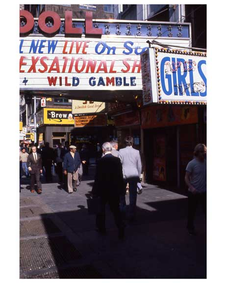 Adult theaters near 1970s Times Square X7 Old Vintage Photos and Images