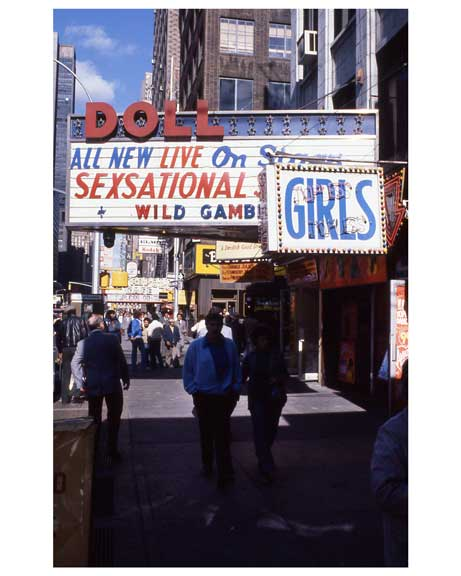Adult theaters near 1970s Times Square X9 Old Vintage Photos and Images