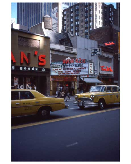 Adult theaters near 1970s Times Square X18 Old Vintage Photos and Images