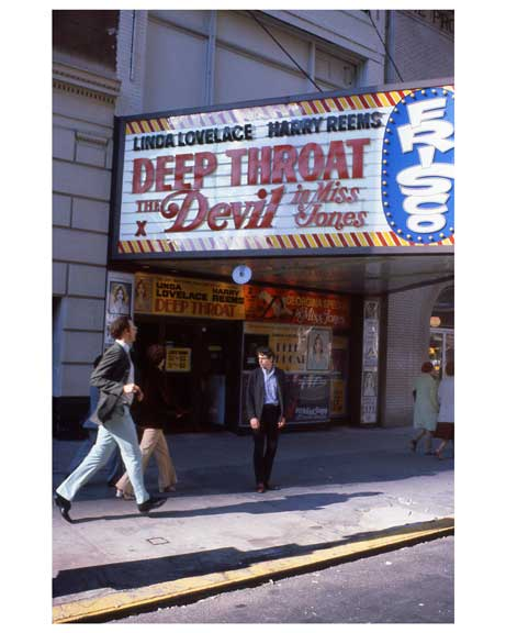 Adult theaters near 1970s Times Square Old Vintage Photos and Images