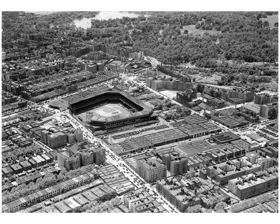 Aerial View Ebbets Field  - Flatbush  - Brooklyn NY