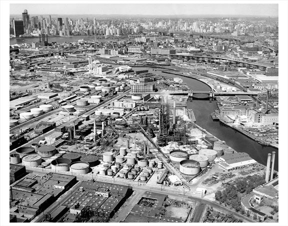 Aerial view of Brooklyn & Manhattan Old Vintage Photos and Images