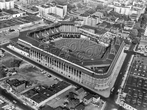 Aerial view of Ebbets Field, 1950s Old Vintage Photos and Images