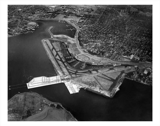 Aerial View of  Laguardia Airport Old Vintage Photos and Images
