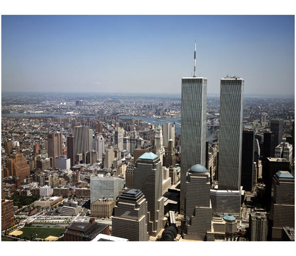 Aerial view of Lower Manhattan, with the World Trade Center in view Old Vintage Photos and Images