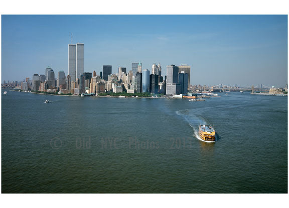 Aerial view of Lower Manhattan with the World Trade center in view A Old Vintage Photos and Images