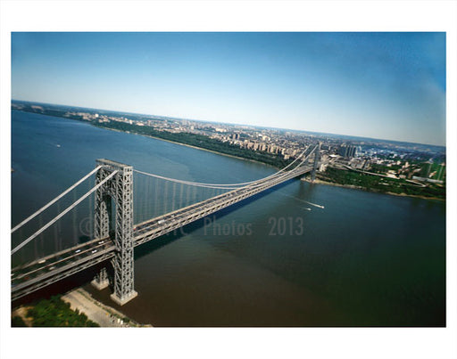 Aerial view of Manhattan Bridge Old Vintage Photos and Images