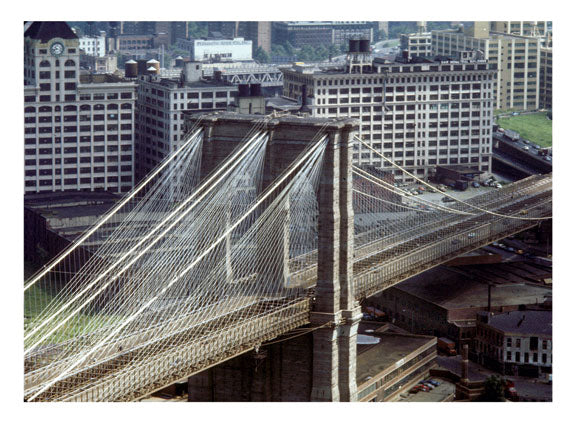 Aerial View of the Brooklyn Bridge Old Vintage Photos and Images