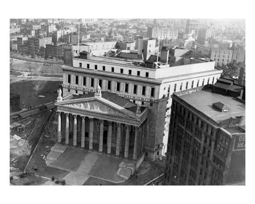 Aerial view of the newly constructed courthouse on Centre StreetCivic Center - Downtown Manhattan   1927 NYC Old Vintage Photos and Images