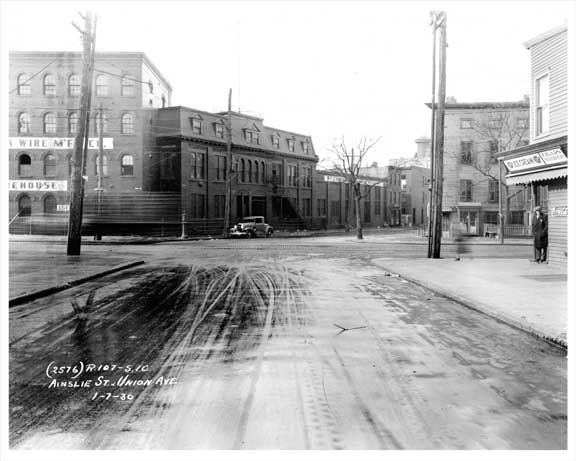 Ainslie St & Union Ave 1930 Williamsburg Brooklyn NY Old Vintage Photos and Images