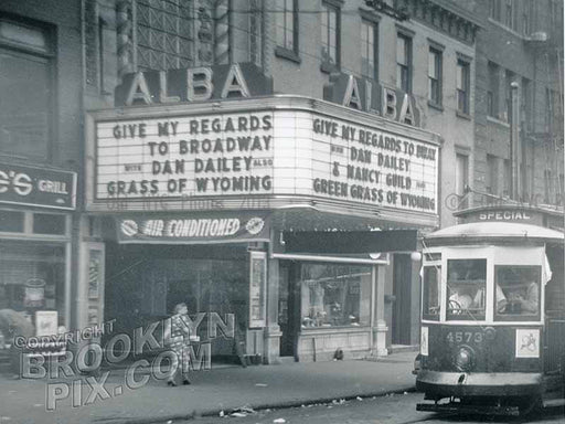 Alba Theater, 250 Flushing Avenue, Bed-Stuy, 1951 Old Vintage Photos and Images