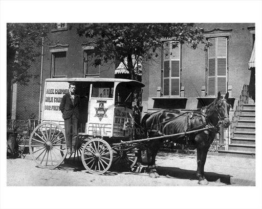 Alex Campbell - milk wagon 1907 Old Vintage Photos and Images