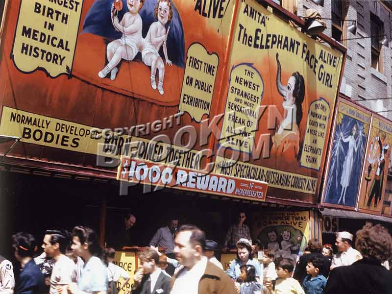 """Alive, Alive""_Coney Island freak show, 1943 Old Vintage Photos and Images"