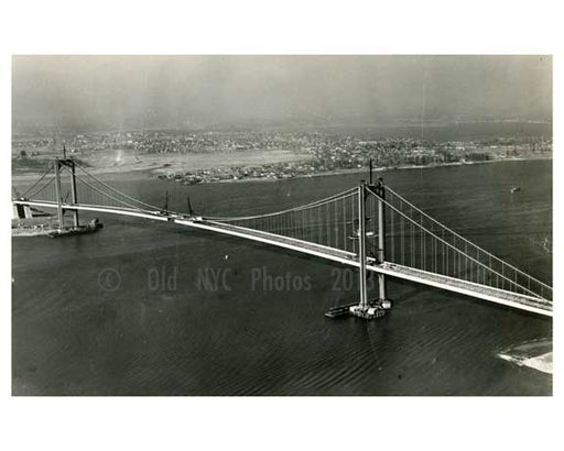 Almost completed Whitestone Bridge 1939  - NYC Old Vintage Photos and Images