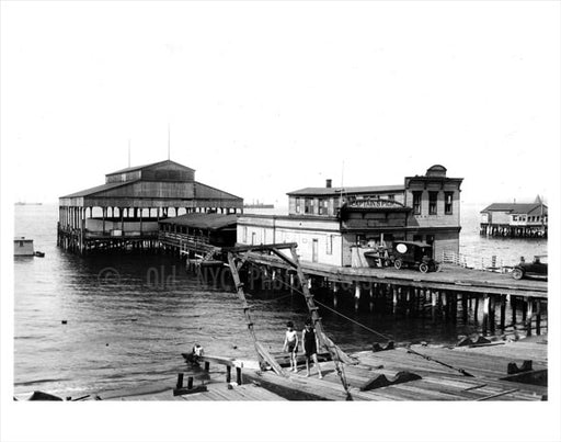 Along the waterfront - 'Captains pier' Old Vintage Photos and Images