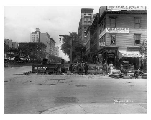 Alternate view of 110th Street & Broadway - Upper West Side - New York, NY 1910 Old Vintage Photos and Images