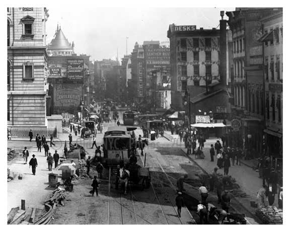 Alternate view of City Hall Park - Centre Street & Chambers 1904 Old Vintage Photos and Images