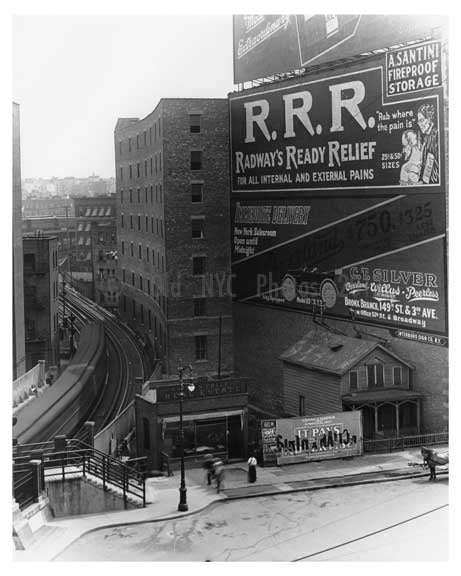 An Upclose shot of 149th Street Station Sugar Hill - Manhattan - New York, NY 1915 Old Vintage Photos and Images