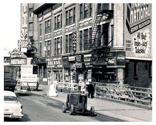 Arcade outside of the Paramount Theater - Dekalb - Flatbush Brooklyn NY A Old Vintage Photos and Images