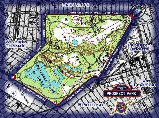 Area map for Prospect Park Old Vintage Photos and Images