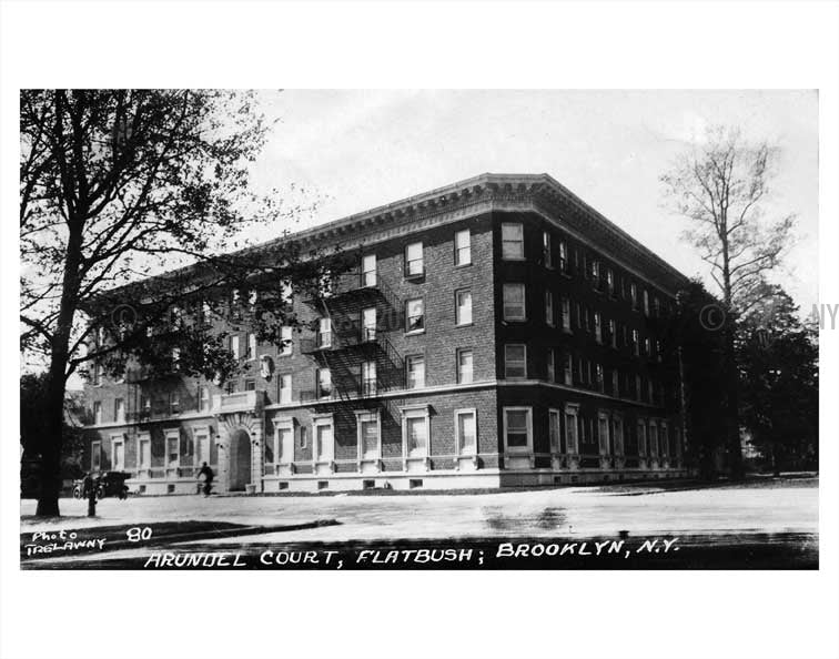 Arundel Court Flatbush, Brooklyn Old Vintage Photos and Images