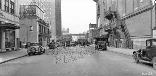 Ashland Place looking north to Lafayette Avenue, 1929 Old Vintage Photos and Images