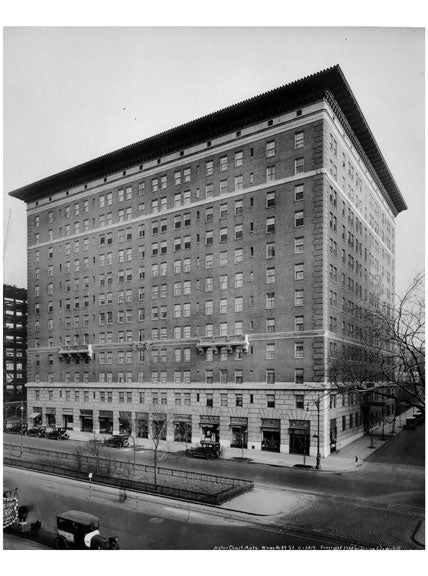 Astor Court Apartments - Broadway & 89th Street 1922  - Upper West Side - Manhattan NY Old Vintage Photos and Images