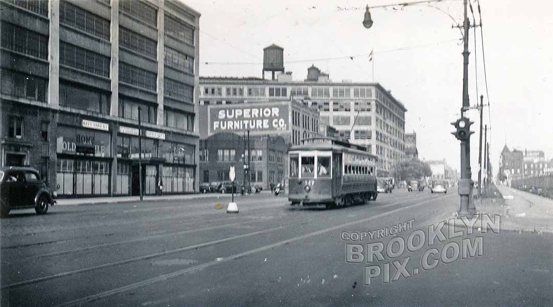 Atlantic Avenue looking east from Carlton Avenue, 1942 Old Vintage Photos and Images