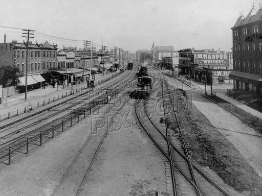 Atlantic Avenue looking east from Snediker Avenue, 1890s Old Vintage Photos and Images