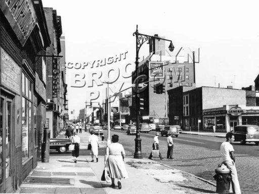 Atlantic Avenue, looking east to Nevins Street, 1959 Old Vintage Photos and Images