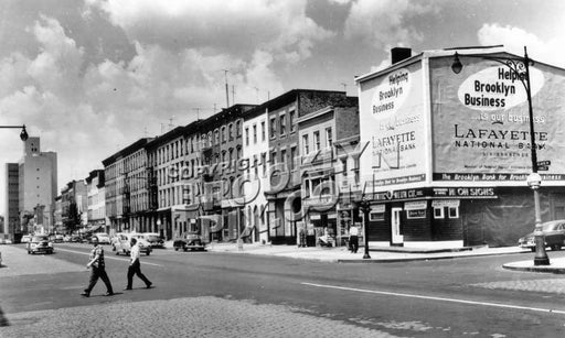 Atlantic Avenue looking west from Bond Street, 1959 Old Vintage Photos and Images