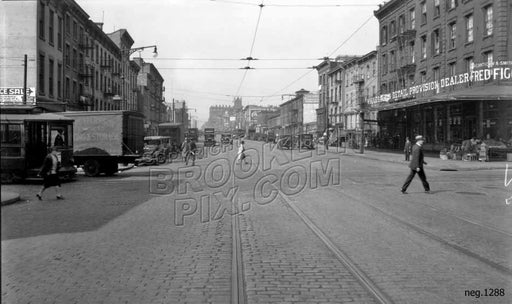 Atlantic Avenue looking west to Smith Street, 1928 Old Vintage Photos and Images