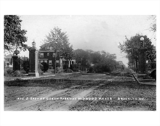 Ave J - East of Ocean Parkway - Midwood Manor Old Vintage Photos and Images