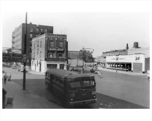 Ave M Brighton Bus Line - Midwood - Brooklyn, NY 1952 Old Vintage Photos and Images
