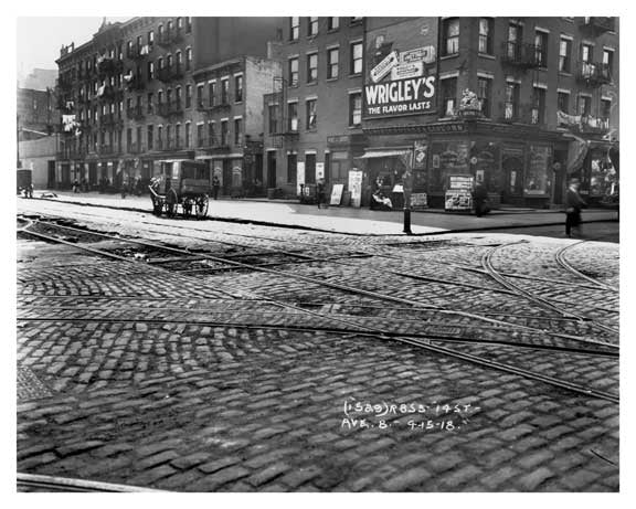 Avenue B & East 14th Street - Alphabet City - Manhattan - New York, NY 1918 A Old Vintage Photos and Images