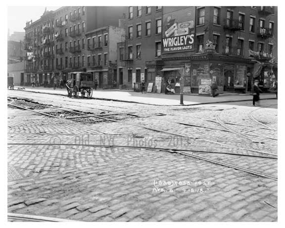 Avenue B & East 14th Street - Alphabet City - Manhattan - New York, NY 1918 B Old Vintage Photos and Images