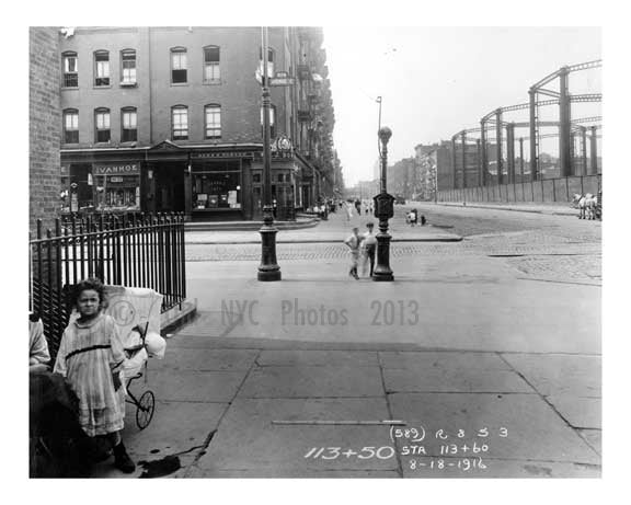 Avenue C & East 14th Street Alphabet City - Manhattan - New York, NY 1916 Old Vintage Photos and Images