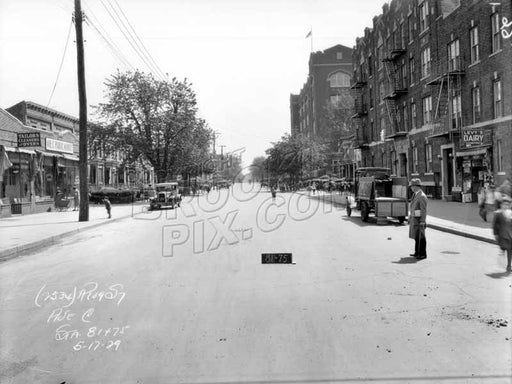 Avenue C looking east from McDonald Avenue, 1929 Old Vintage Photos and Images