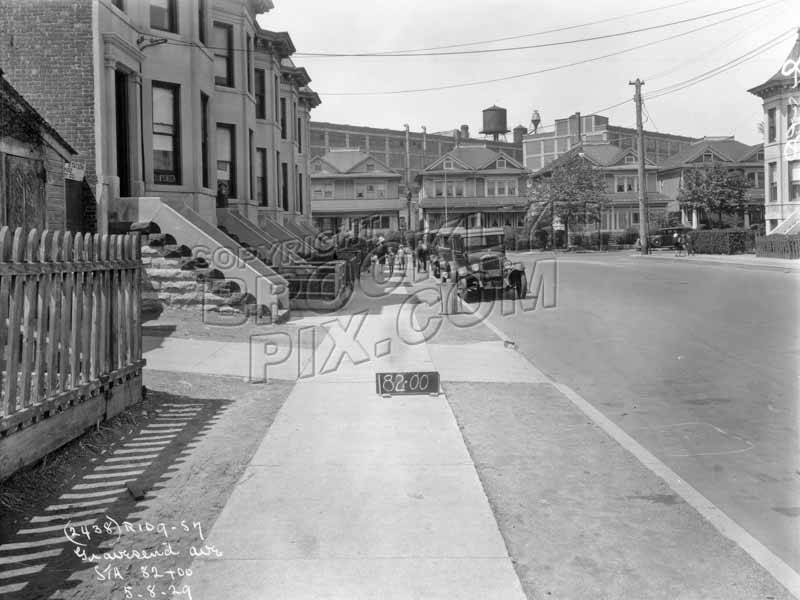 Avenue C looking west from McDonald Avenue to Dahill Road, 1929 Old Vintage Photos and Images