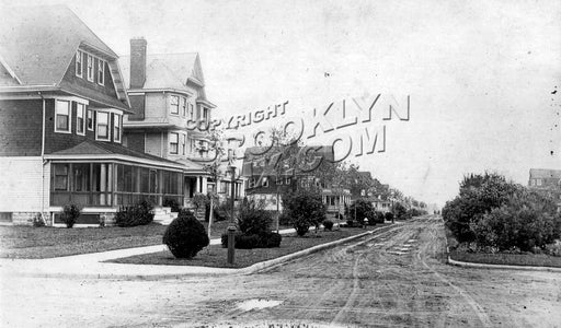 Avenue J looking east from East 21th Street, c.1912 Old Vintage Photos and Images